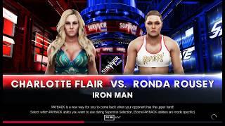 Ronda rousey vs charlotte flair