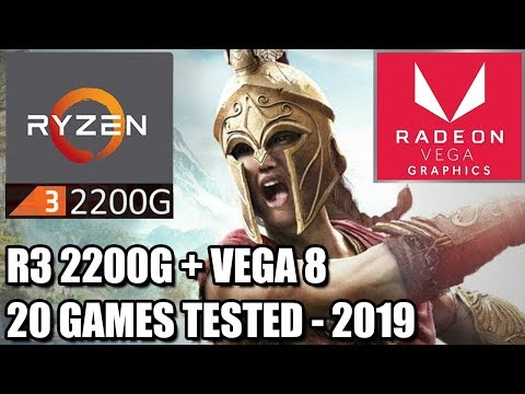 Ryzen 3 2200G + Vega 8 IGPU On 2019 - 20 Games Tested - Can We Get Playable FPS?