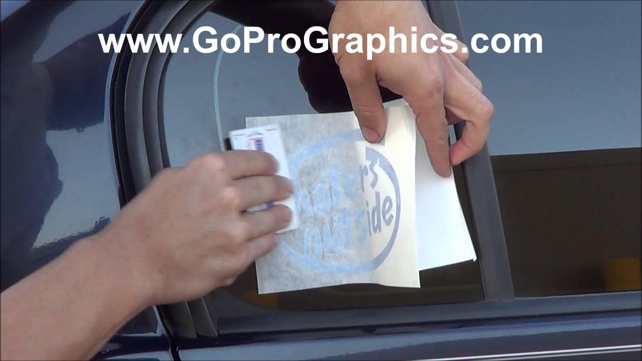 Go Pro Graphics Vinyl Window Decal Bumper Sticker