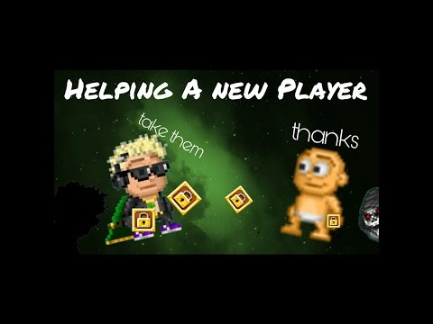 Pixel Worlds | HELPING A NEW PLAYER! | Help Noobs #1