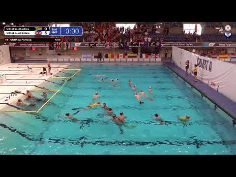 Game 195  (GBR vs RSA U24M) ENGLISH- 5th CMAS Underwater Hockey Age Group Worlds - Sheffield, UK
