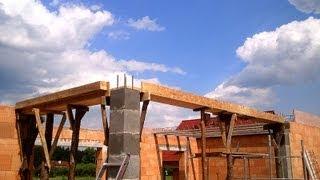 Budowa domu, strop, Full HD, Film 16 Strop, belki i pustaki teriva, szalunki podciągów