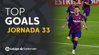 Todos los goles de la jornada 33 de LaLiga Santander 2019/2020