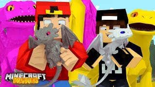 Minecraft DRAGONS - WE FOUND THE NIGHT FURY'S & A NEW BABY!!