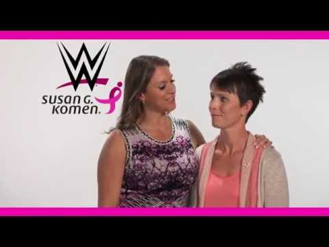 WWE Chief Brand Officer Stephanie McMahon introduces breast cancer survivor Shannon thumbnail