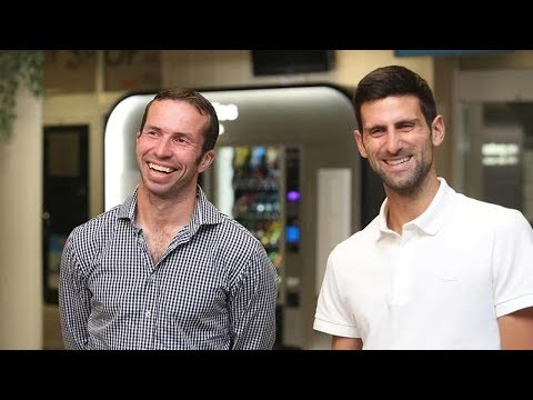 Novak Djokovic & Radek Stepanek FUNNY INTERVIEW - Prague 2018 (HD)