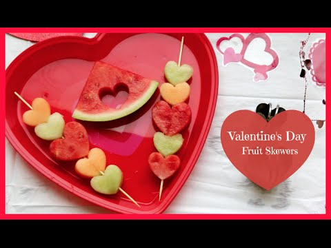 Valentine's Day Fruit Skewers
