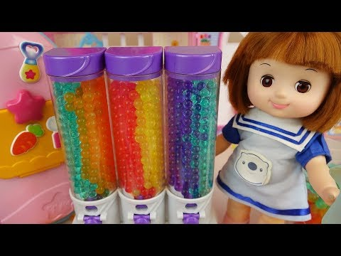 Baby doll and fruit jelly cake toys surprise eggs baby Doli play