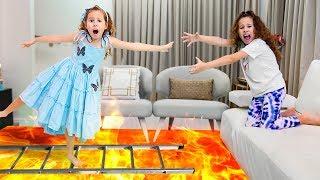 Valentina salva gêmeas de lava - شفا تنقذ توأمتها من الحمم البركانية