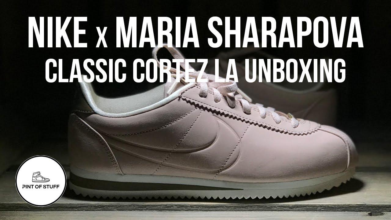 nike x maria sharapova classico cortez la scarpa unboxing con sj