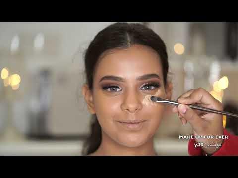 فيديو خاص بالفاونديشن وتوزيعه للسمر والبشرات التان مات فلفت فاونديشن Makeupforever للبشرة التان