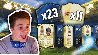 I SWEAR YOU'LL NEVER SEE A PACK OPENING LIKE THIS EVER AGAIN | 23 TOTYS & 11 LEGENDS - FIFA 17