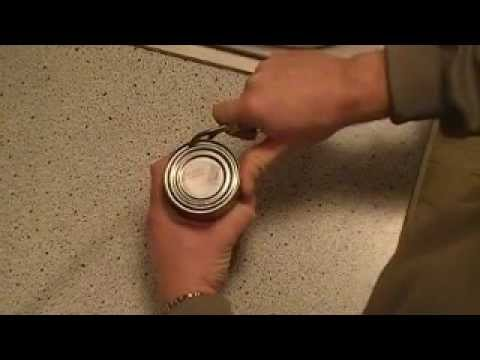 How To Use A Knife S Can Opener Youtube
