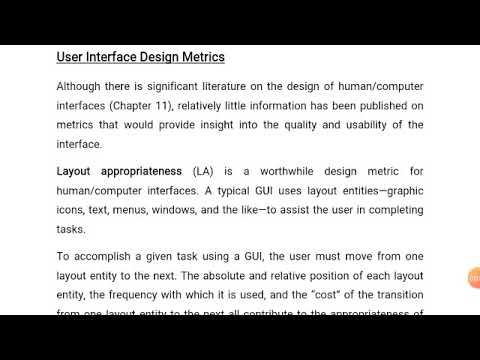 User Interface Design Metrics And Metrics For Source Code Software Engineering Youtube