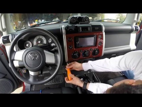 FJ Cruiser How To Remove Dash Panel  | How To Install Rocker Switch | Access Radio Head Unit