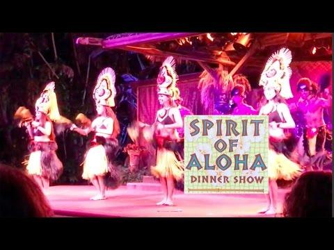 SPIRIT OF ALOHA DINNER SHOW - EATING AT THE POLYNESIAN RESORT