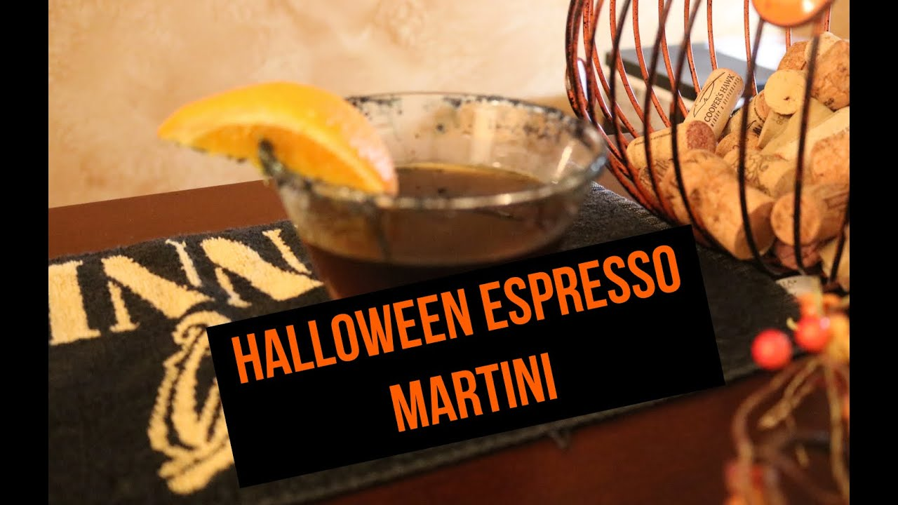 Halloween Orange & Black Espresso Martini