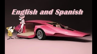 ♪♫ the pink panther show - (intro & ending) english and spanish lyrics