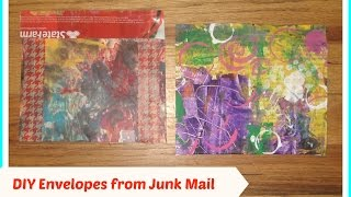 DIY: How to Make Mail Art Envelopes from junk/ DIY handmade envelopes/ DIY Happy Mail Envelop