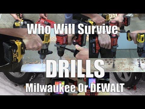 Milwaukee M18 FUEL 2804-20 Vs DEWALT XR DCD996 Drill Driver Extreme Testing | What Drill Is Better?