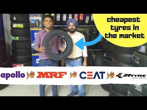 कोनसे tyre है सबसे बेहतर {Apollo vs MRF vs CEAT vs JK TYRES} / Best tyres under 2500/-
