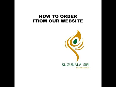 How to Order from our website | Channel Membership | Appointments | Sugunala Siri