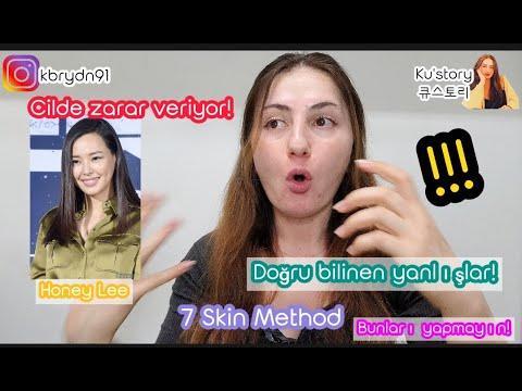 Honey Lee 7 Skin Method | Doğru bilinen yanlışlar | Cildinize zarar veriyor! | 7 tonik tekniği