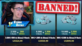 I'VE BEEN BANNED FROM BUYING V-BUCKS AT FORTNITE! I SPENT A LOT!