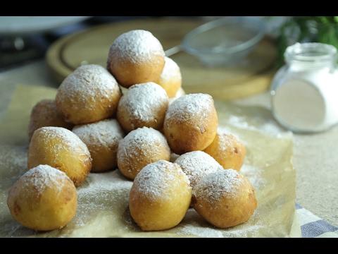 Творожные пончики в сахарной