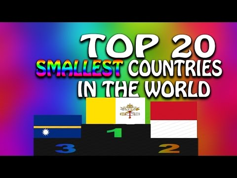 Top 20 Smallest countries in the World(by area)
