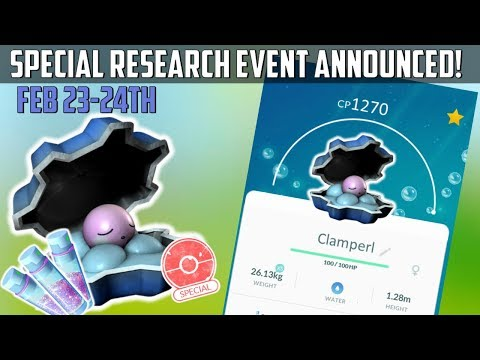 Clamperl Special Research Day In Pokemon Go! Double Stardust! thumbnail