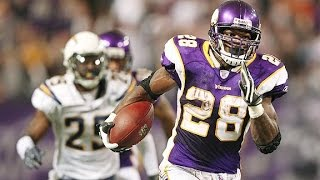 Adrian Peterson All Carries vs Chargers (2007 NFL Week 9) - 296 Yards + 3 TDs, Rushing Record!