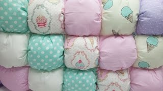 Бомбон мастер класс | How to make a Bubble Puff Quilt English subtitles