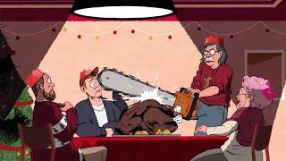 Трэшовая рождественская реклама KFC: сочную курочку разделывают бензопилой!