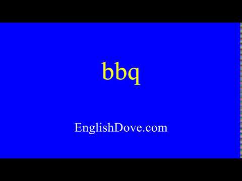 How to pronounce bbq in American English.