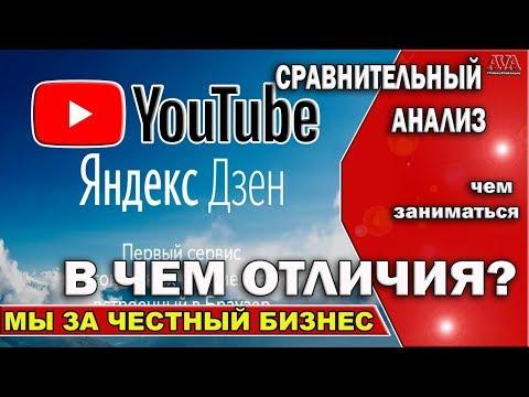 📌  Яндекс Дзен или YouTube? Чем заниматься /Сравнительный анализ