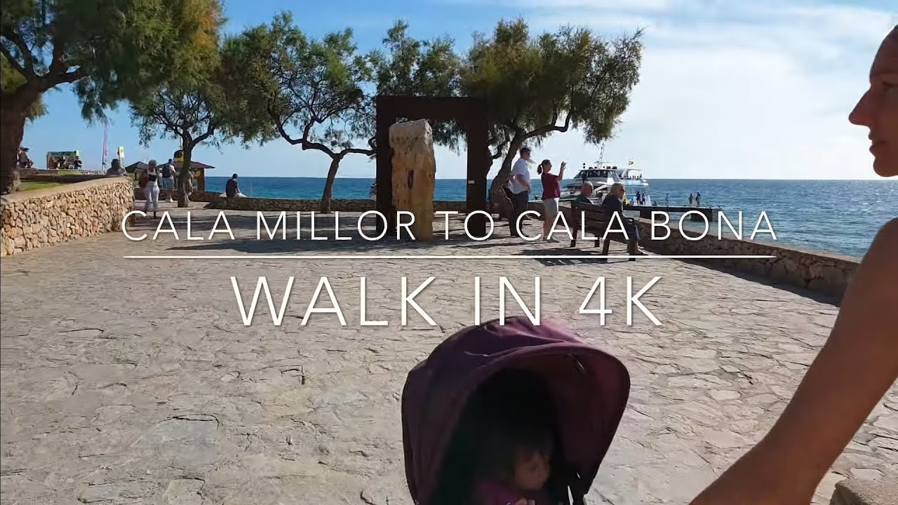 Mallorca, Cala Millor to Cala Bona walk in 4K