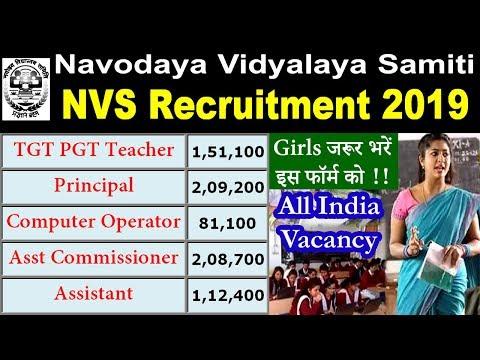 NVS Recruitment 2019 Notification Pdf Apply Online @ navodaya.gov.in
