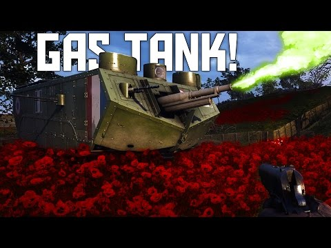 GAS TANK!  New French St Chamond Assault Tank - Battlefield 1 They Shall Not Pass DLC Gameplay