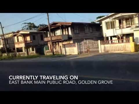 Traveling Down The East Bank Demerara Main Public Road- Republic Of Guyana (HD)
