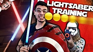 BALLS to the FACE! (LIGHTSABER TRAINING)