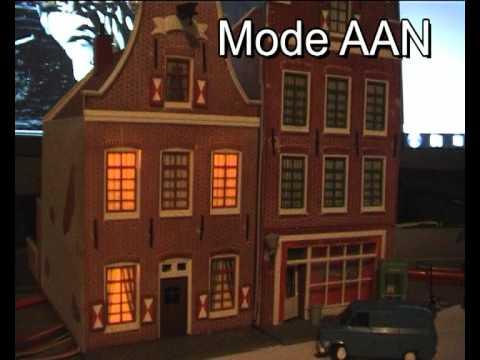 Modelbouw huisjes led verlichting - YouTube