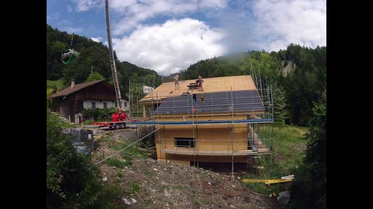 Construction maison ossature bois en timelapse  YouTube