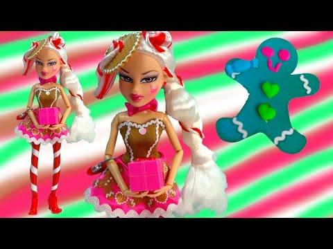 Gingerbread Man Candy Cane Peppermint Twist Jade Bratz Holiday Christmas Doll Playdoh Play