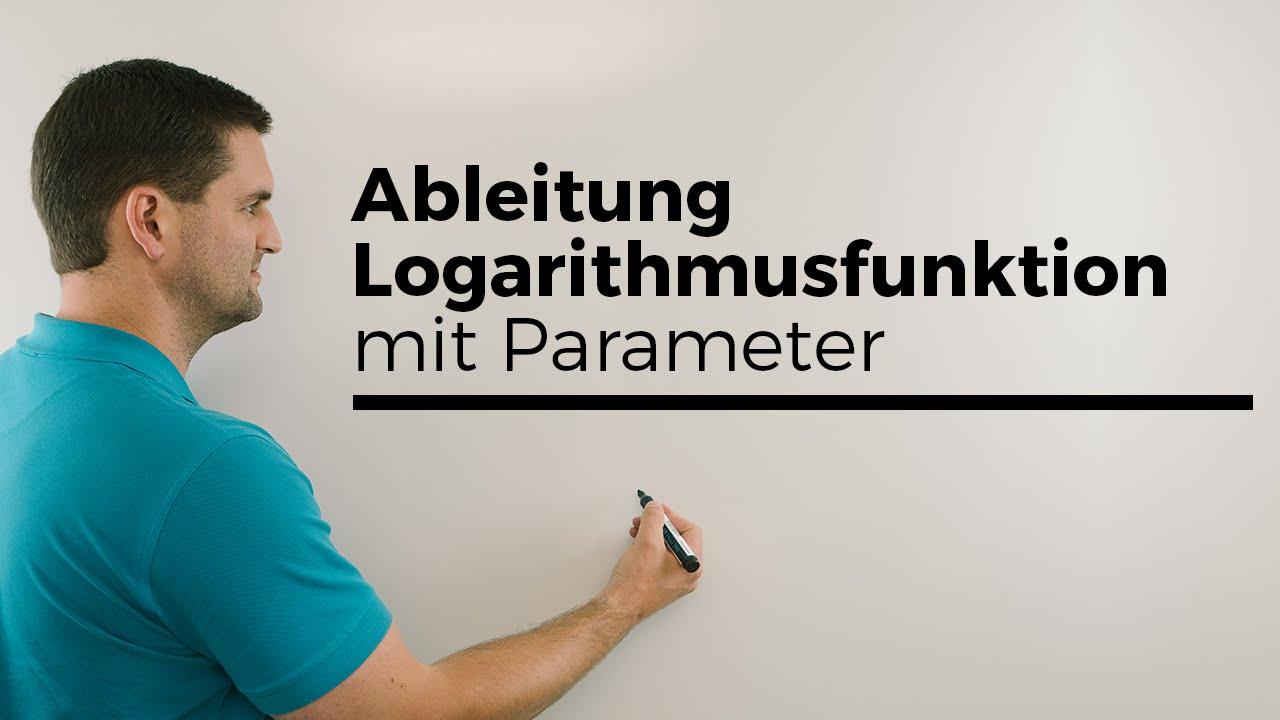 Ableitung Logarithmusfunktion, ln(x), mit Parameter, Teil 2 | Mathe ...