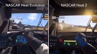 NASCAR Heat Evolution vs. NASCAR Heat 2 - PS4 Side By Side