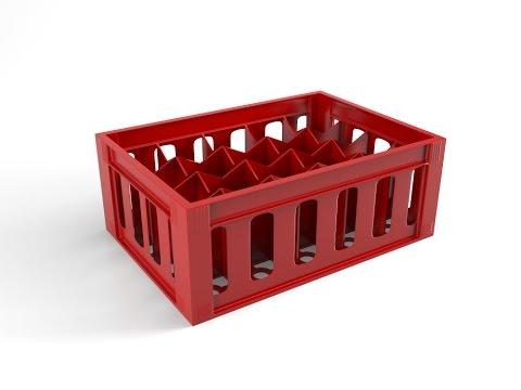 3d Coca Cola Bottles Crate - Part 1 Modeling