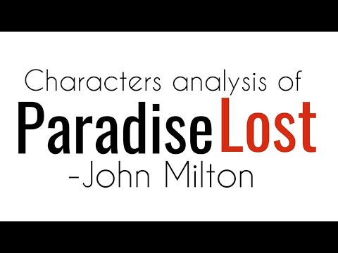 Paradise Lost by John Milton in hindi Characters analysis for #Uptgt #John_milton