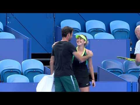 Roger Federer practice session | Mastercard Hopman Cup 2018