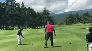 Armand playing for Golf Digest Japan